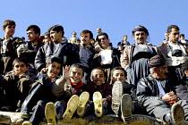 A group of kurdish children attend a marriage ceremony of Pir-e-Shahyar in Uraman Takht village. Uramanat, South Eastern Marivan, Iran - Siavash Habibollahi - 03-02-2005