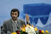 Iranian President Mahmoud Ahmadinejad speaks with media during press conference at the presidency in Tehran, Iran. - Siavash Habibollahi - 11-12-2007