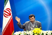 Iran's President Mahmoud Ahmadinejad speaks with journalist during a news conference in Tehran, Iran. - Siavash Habibollahi - 13-05-2008