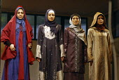 Iranian models display traditional islamic dresses during a fashion show in Tehran, Iran. - Siavash Habibollahi - 18-07-2008