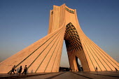 A view of Azadi Tower or Freedom Tower in Azadi square, Tehran, Iran. The Gateway into Iran. Constructed of white marble in 1971 and was designed by Hossein Amanat. - Siavash Habibollahi - 18-07-2004