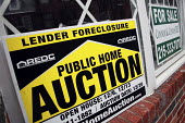 Foreclosure, Public Auction sign house in Philadelphia, USA - Steven Langdon - 31-12-2008