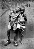 Two Rwandan boys in Kigali. Rwanda, 2003 - Steven Langdon - 03-08-2003