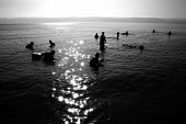 Locals and tourists bathe in the waters of the Dead Sea, Jordan, 2004 - Steven Langdon - 01-03-2004