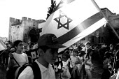 Israeli children carry national flags during a parade, Jerusalem. Israel, 2005 - Steven Langdon - 20051027