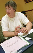 Woman on a GFTU course for trade unionists, Oxford - Janina Struk - 16-06-2001