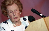 Barbara Castle speaking at a conference at the TUC on equal pay. - Janina Struk - 25-05-2000