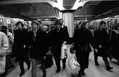 Commuters on a platform at Charing Cross main line railway station - Janina Struk - 18-11-1998
