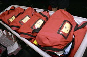 Mail bags loaded, ready for delivery, by the starburst team at Camberwell sorting office, London - Janina Struk - 01-06-2002