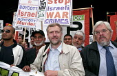 Jeremy Corbin MP and Paul Mackney, Gen Sec of NATFHE, leading the anti-war demonstration, against Israeli war crimes and the invasion of Iraq, in London - Janina Struk - 2000s,2002,activist,activists,against,CAMPAIGN,campaigner,campaigners,CAMPAIGNING,CAMPAIGNS,DEMONSTRATING,demonstration,DEMONSTRATIONS,Iraq,Israel,Israeli,London,protest,PROTESTER,PROTESTERS,protestin