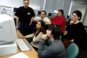 An Information Technology class for BECTU trade union members at North East London College - Janina Struk - 06-05-2000