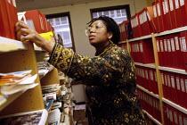 Black woman office worker at a trade union head office - Janina Struk - 03-06-1998