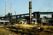 Nowa Huta steelworks, one of the largest industrial plants in Poland, was built in the 1950s near Krakow. It is gradually being closed down due to high pollution levels. - Janina Struk - 1990s,1997,capitalism,capitalist,chimney,CHIMNEYS,closed,closing,closure,closures,eastern,emissions,environmental degradation,europe,FACTORIES,factory,heavy,Industries,industry,maker,makers,making,met