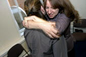 BECTU women practise moves in a self-defence workshop at a national women's event. - Janina Struk - 12-11-2005