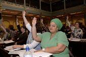 Delegates vote at Womens TUC conference. - Janina Struk - 16-03-2007