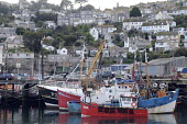 Fishing boats anchored in Newlyn harbour, one of the largest fishing ports left in Britain. - Janina Struk - 20-09-2009