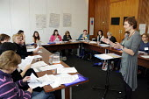 Women attend a workshop at BECTU Women's Conference. - Janina Struk - trade union,2010,2010s,activist,activist activists,activists,adult adults,BECTU,CAMPAIGN,campaigner,campaigners,CAMPAIGNING,CAMPAIGNS,cities,city,communicating,communication,conversation,conversations