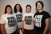 The FBU delegation wearing No More Page Three T-shirts at Women's TUC, 2015. - Janina Struk - 12-03-2015