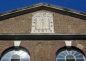 Umbra Sumus translates as 'We are Shadows' is the inscription on the sundial that adornes the building on the corner of Brick Lane and Fournier Street in Spitalfields. Originally built as a Hugenot ch... - John Sturrock - 2000s,2004,ACE,architecture,are,building,buildings,chapel,christian,christianity,cities,city,culture,historic,Hugenot,inscription,islam,islamic,Judaism,Latin,Methodist,METHODISTS,monotheistic,Mosque,m