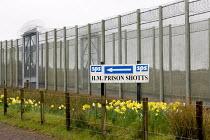 External double security fence, H.M. Prison Shotts, Lanarkshire, Scotland - John Sturrock - 27-04-2005