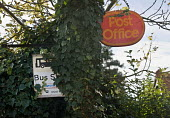Partially obscured Bus Sop and Post Office signs in Upstreet, a village in Kent. - John Sturrock - 16-11-2005
