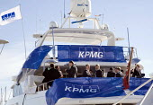 Corporate hospitality aboard accountants KPMGs boat, at the MIPIM 2008 Cannes - The worlds real estate showcase for property professionals. - John Sturrock - 11-03-2008