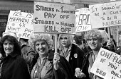 NHS pay dispute 1982 RCN (Royal College of Nursing) nurses march in protest at a four percent pay offer - John Sturrock - 20-07-1982