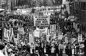 NHS pay dispute 1982~TUC demonstration in support of the NHS workers pay claim - John Sturrock - 22-09-1982