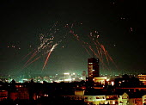 Anti- aircraft fire in response to NATO bombing of Belgrade. Serbia. 1999 - Andrija Ilic - 01-07-1999