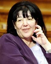 Mirjana Markovic, influential wife of former President Miloshevic. Belgrade, Serbia. 2001 - Andrija Ilic - 01-07-2001