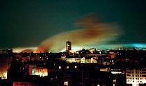 NATO air attack on the Yugoslav Army HQ in central Belgrade during the war. Belgrade, Serbia 1999 - Andrija Ilic - 21-05-1999