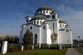 Sveti Sava Eastern Orthodox Cathedral in Belgrade, Serbia 2004. Archetecter by Bogdan Nestorovi� and Aleksandar Deroko - Andrija Ilic - &,2000s,2004,ACE,architecture,art,arts,BALKAN,balkans,belief,buildings,Cathedral,CATHEDRALS,christian,christianity,conviction,eu,europe,european,europeans,faith,former,GOD,LIFE,monotheistic,Orthodox,P