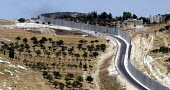 The Israeli wall built to seperate the West Bank from Israel, Abu Dis, West Bank 2005. - Andrija Ilic - 04-07-2005