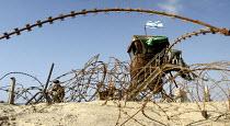 Israeli army guards the Shirak Hayam tent settlement in Gush Katif, Gaza 2005 - Andrija Ilic - 19-07-2005