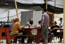 Jewish settlers opposing the Israeli withdrawal from Gaza establish a camp in Shirak Hayam tent settlement in Gush Katif, Gaza 2005 - Andrija Ilic - 19-07-2005