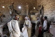 Tigray women collecting flour from a mill, Tigray, Ethiopia 2005 - Boris Heger - 06-09-2005