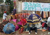 Over one hundred thousand pilgrims walk each December for sixty five kms from the city of Dire Dawa to the Orthodox Church of Saint Gabriel at Kulubi to celebrate Angel Gabriel Day. Kulubi, Ethiopia 2... - Boris Heger - 06-09-2005