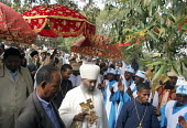 The Head of the Orthodox Chruch greets some of the hundred thousand pilgrims who walk each December for sixty five kms from the city of Dire Dawa to the Orthodox Church of Saint Gabriel at Kulubi to c... - Boris Heger - 06-09-2005