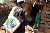 A UNICEF emergency polio vaccination campaign to inoculate nearly fifteen million children in response to two cases of polio near the border with Sudan the first in Ethiopia for four years. Tigray, Et... - Boris Heger - 06-09-2005