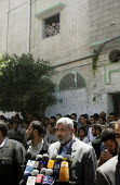 Shijaia. Gaza City. The Palestinian prime minister Ismail Haniya speaking after friday prayer in the Alislah Mosque. Since the Israeli military re entered the Gaza Strip he has had to keep a low profi... - Thomas Morley - 28-07-2006