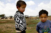 Bedouin children in the village of Tarabin.The Bedouin tribes, who have lived in this desert area for generations have become another of Israels targets for removal and marginalisation. Areas lived on... - Thomas Morley - 23-04-2006