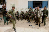 Members of the Palestinian Security Services, forced to leave barracks because of the constant shelling by Israel. Gaza. - Thomas Morley - 23-04-2006