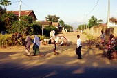 Road block marking entrance to Bwiza, a district form which Hutus have been removed,. Bujumbura, Burundi, 1985 - Howard Davies - 1990s,1995,africa,african,africans,BAME,BAMEs,BME,bmes,burundi,burundian,CHILD,CHILDHOOD,children,conflict,conflicts,displaced,displacement,diversity,East Africa,entrance,ethnic,Ethnic Cleansing,ethni