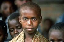 Hutu refugee children at border transit camp. Gisenyi, Rwanda. 1996 - Howard Davies - 03-05-1994