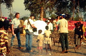 TV media report Rwandan refugee crisis, Munigi camp, Goma, Zaire - Congo. 1994 - Howard Davies - 03-05-1994