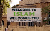 A welcome to Islam sign, in the centre of the city of Gaborone. - Howard Davies - 31-10-2006