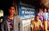 Bhutanese refugees at support project for victims of violence, Goldhap camp, Nepal. 1997 - Howard Davies - 03-05-1997