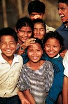 Bhutanese refugee children, Beldangi camp, Nepal. 1997 - Howard Davies - 03-05-1997