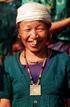 Elderly Bhutanese refugee, Sanischare camp, Nepal. 1997 - Howard Davies - 03-05-1997