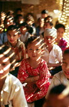 Bhutanese refugee children at school, Sanischare camp, Nepal. 1997 - Howard Davies - 03-05-1997